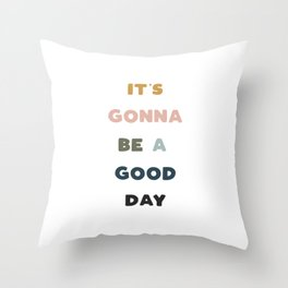 Have A Good Day - Retro Rainbow Throw Pillow