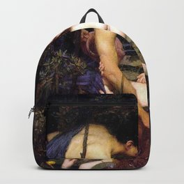 Hylas And The Nymphs John William Waterhouse Backpack