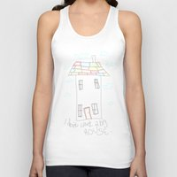 house Tank Tops featuring House by Frances Roughton