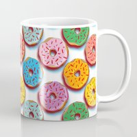 donuts Mugs featuring Donuts by Helene Michau