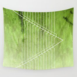 Disrupt - Green Wall Tapestry