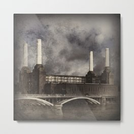 Battersea Power Station, London Metal Print