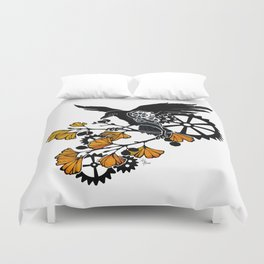 Raven and Ginkgo - Autumn Cycle Duvet Cover
