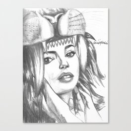 Saber Tooth Beauty Canvas Print