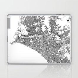 Lima White Map Laptop & iPad Skin