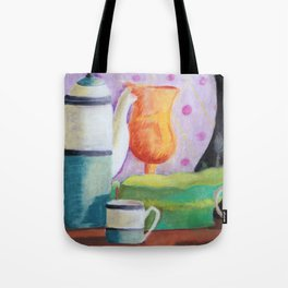 Bottlescape II, Abstract Alice in Wonderland Party Tote Bag