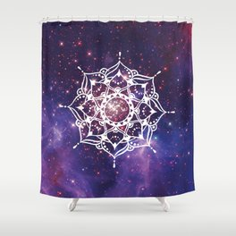 Space Mandala Shower Curtain
