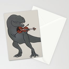 T-Rex Violin Stationery Cards