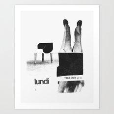 Lundi Art Print