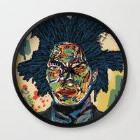 basquiat Wall Clocks featuring BASQUIAT by Blaz Rojs