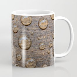 Water Drops on Wood 5 Coffee Mug