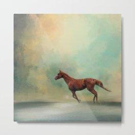 Arabian Run - Horse Metal Print