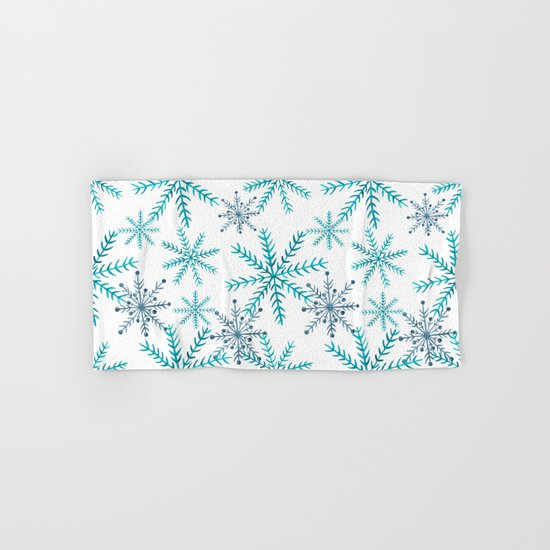 Blue Snowflakes Hand & Bath Towel