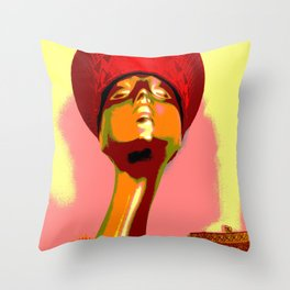 Vintage: The Zulu Hat Throw Pillow