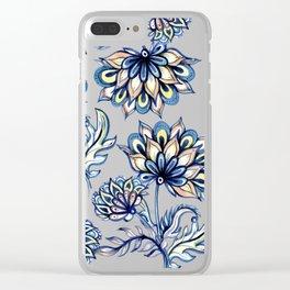 Watercolour Batik Flowers IV Clear iPhone Case