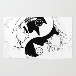 Goku vs Goku Black Ying Yang Dragon Ball Super Rug