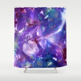 Blue Stargazer Floral Shower Curtain