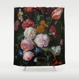 "Jan Davidsz. de Heem ""Still Life with Flowers in a Glass Vase"" Shower Curtain"