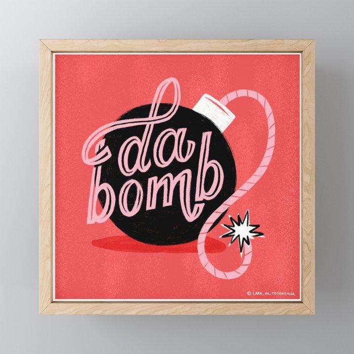 It Was Da Bomb Dot Com Framed Mini Art Print