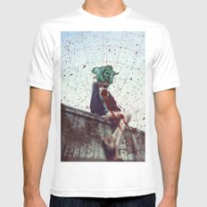 Bundenko street art Mens Fitted Tee White MEDIUM
