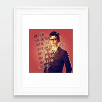 david tennant Framed Art Prints featuring DON'T BLINK! David Tennant - Doctor Who by KanaHyde