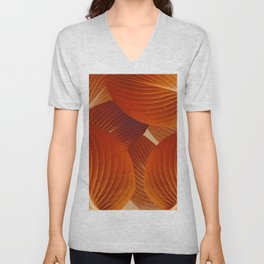 Leaves in Terracotta Color #decor #society6 #buyart Unisex V-Neck