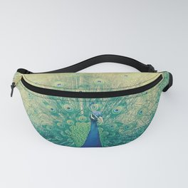 Peacock Spreading Feathers Fanny Pack