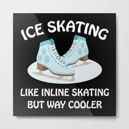Ice Skating Metal Print