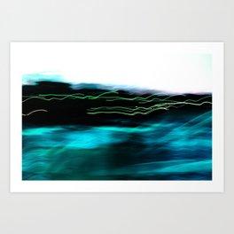 Turquoise Harbour Lights Art Print