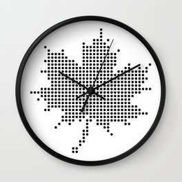 Maple Leaf BW Wall Clock
