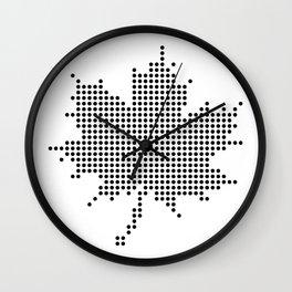 Maple Leaf BW Wall Clock