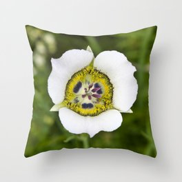 Gunnison's sego lily Throw Pillow