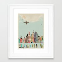 minnesota Framed Art Prints featuring visit minneapolis minnesota by bri.buckley