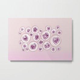 Creepy Pastel Pink Eyeballs Metal Print