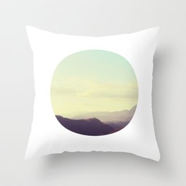 Dreamy mountain photograph of Tuscany Throw Pillow