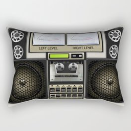 Retro Music Boombox Rectangular Pillow