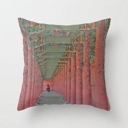 Traditional Korean Changdeokgung Palace_A3 Throw Pillow
