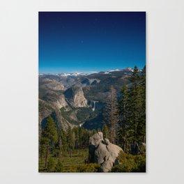 Yosemite Under a Full Moon Canvas Print