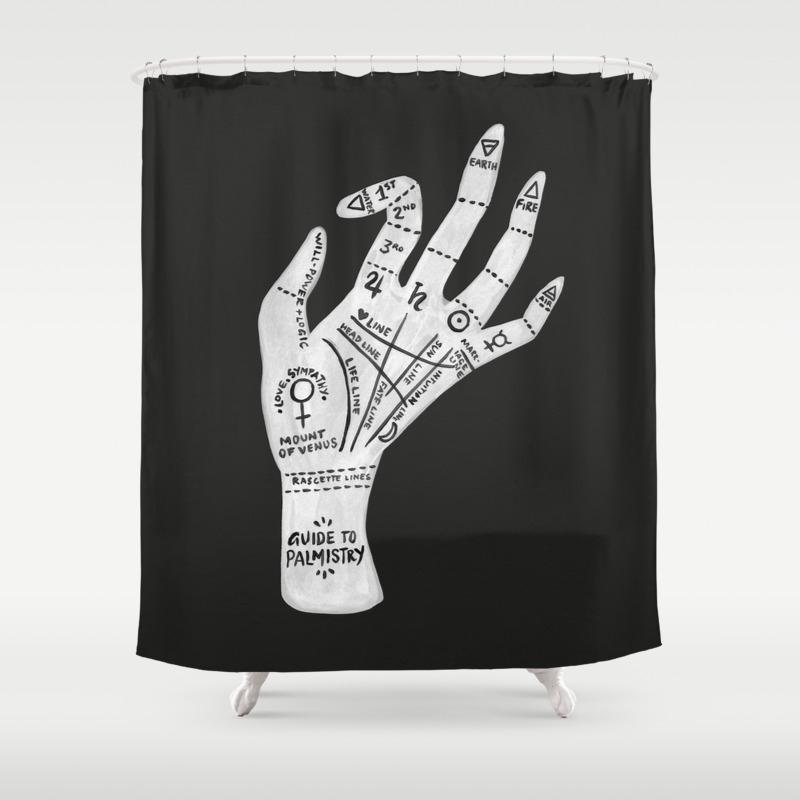 Good Goth Shower Curtain Part - 12: Goth Shower Curtain