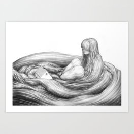 Echoes Under Whelm Art Print