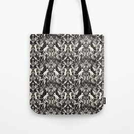 Victorian cat damask Tote Bag