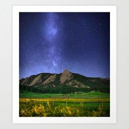 Milky Way in Boulder, Colorado Art Print