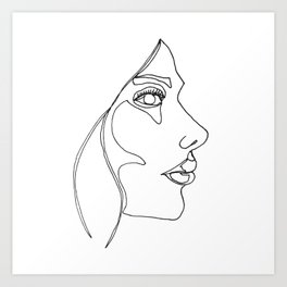 DISAPPOINTMENT ( ONE LINE DRAW) Art Print