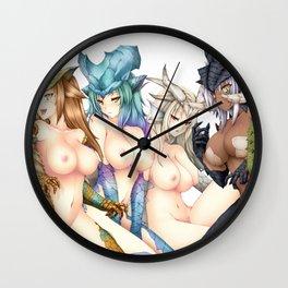 Team Of Big Breasted Chimera Hentai Girls Chatting Ultra HD Wall Clock