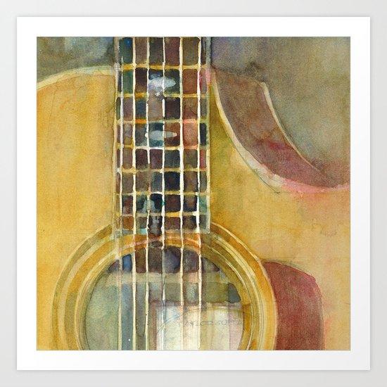 Acoustic Guitar - Taylor Art Print