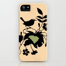 South Carolina - State Papercut Print iPhone Case