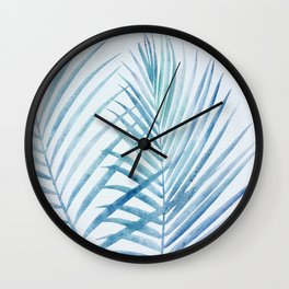 Coastal Palms Watercolor Wall Clock