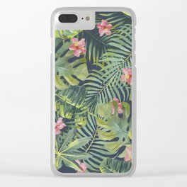 Palm Leaves Pattern 13 Clear iPhone Case