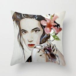 Purple Tarantula Throw Pillow