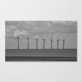 North Sea Wind Farm Canvas Print